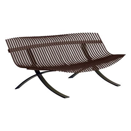 5-х местная скамейка с черными ножками - CHARIVARI - Классические цвета