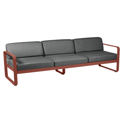 3х местный диван - BELLEVIE - Классические цвета (подушки антрацит)