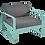 Thumbnail: Кресло - BELLEVIE - Яркие цвета (подушки антрацит)