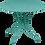 Thumbnail: Cтол Ø 96см - 1900 - Яркие цвета