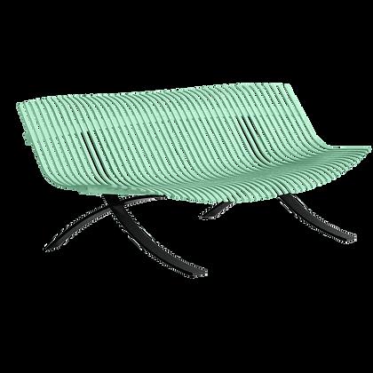 5-х местная скамейка с черными ножками - CHARIVARI - Яркие цвета