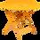 Thumbnail: Складной стол Ø 96 см - LORETTE - Яркие цвета