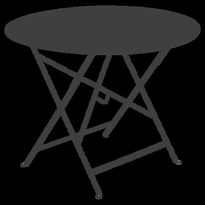 Складной стол Ø 96 см - LORETTE - Классические цвета