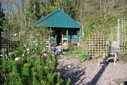 The studio from the gravel garden