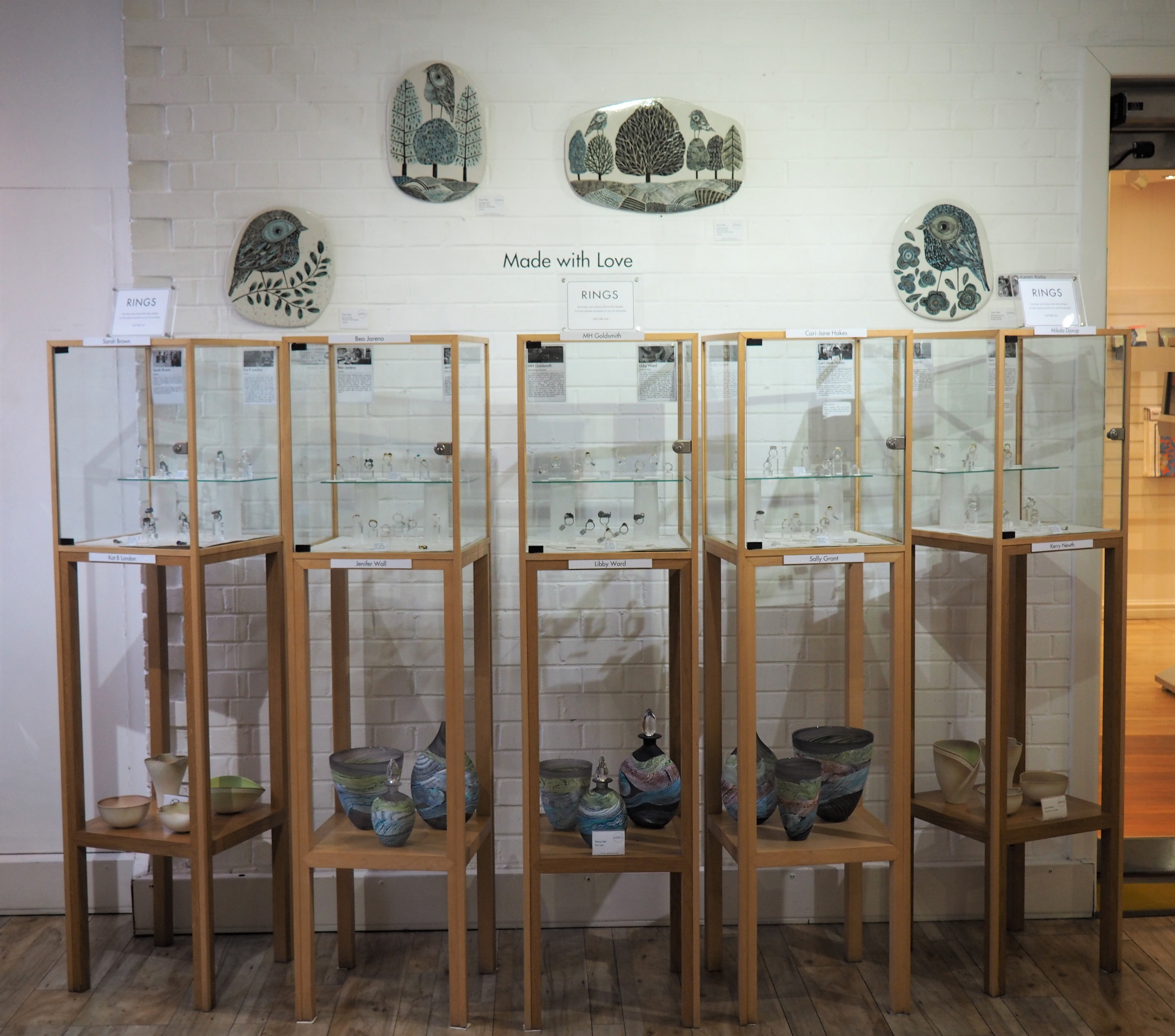 Karen Risby wall pieces.