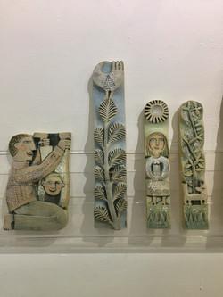 Ceramic reliefs by Hilke too.