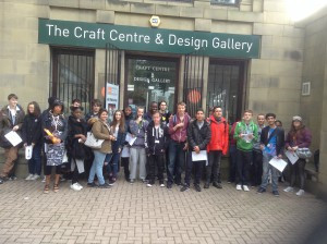Media students enjoy visit to Leeds Craft Centre and Design Gallery
