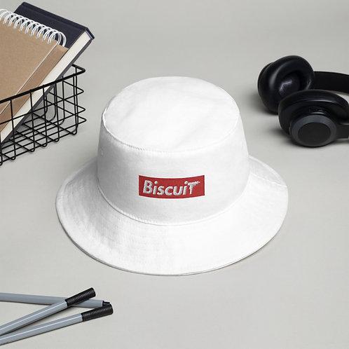 BiscuiT_Mfg mini-logo bucket hat