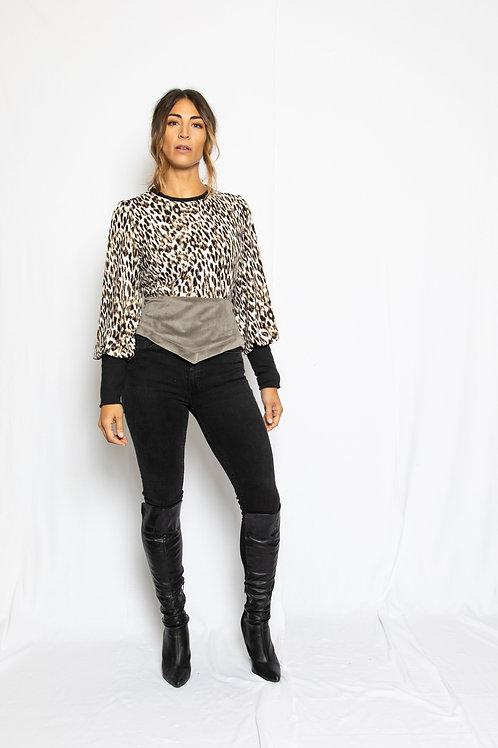 The Mamie Sweatshirt Blouse