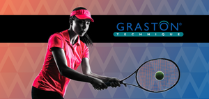 Showing woman playing tennis after Graston Technique
