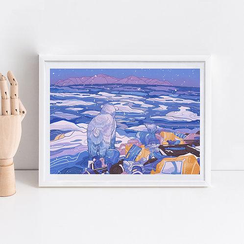 Plastic Pollution Art Print