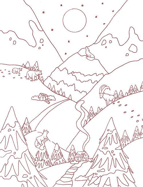 Sketch Winter Landscape