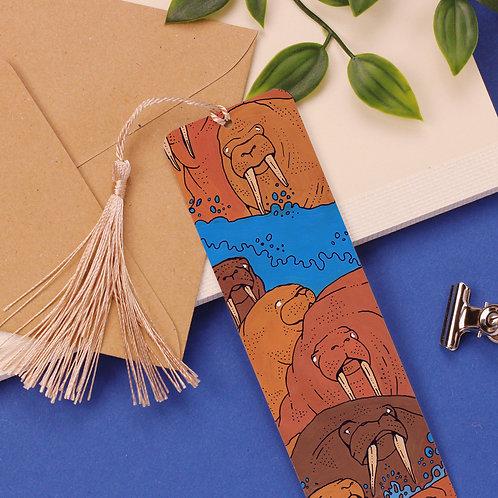 Walruses Aluminium Bookmark