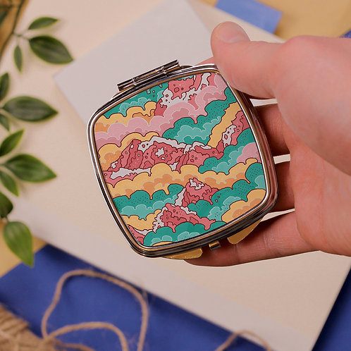 Rainbow Mountains Pocket Mirror