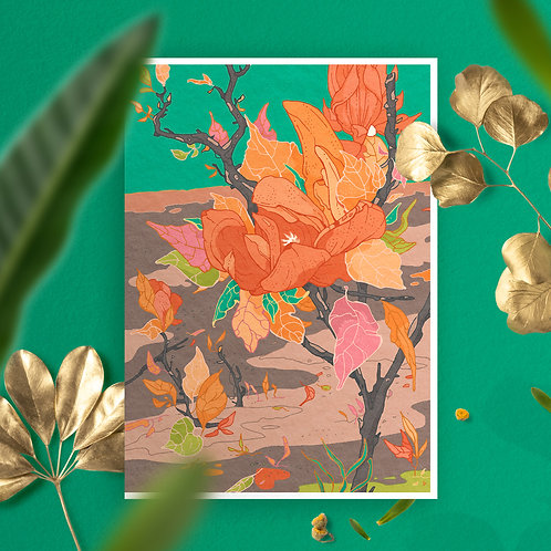 Green Garden Greeting Card
