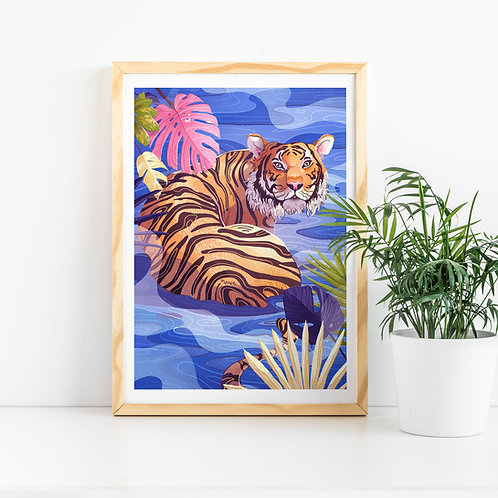 Tiger Art Prin
