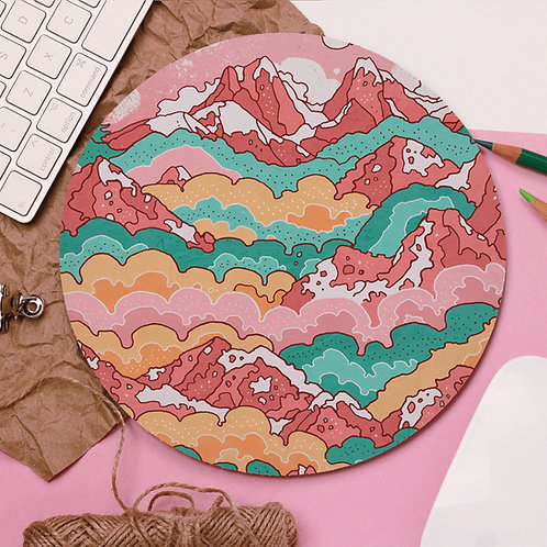 Rainbow Mountains Mouse Pad