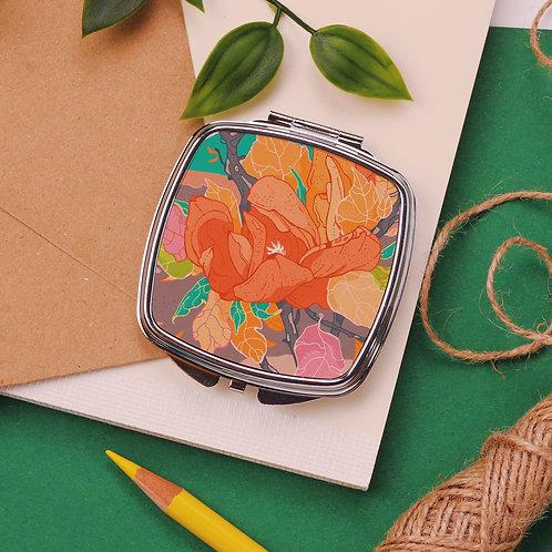 Garden Flowers Pocket Mirror