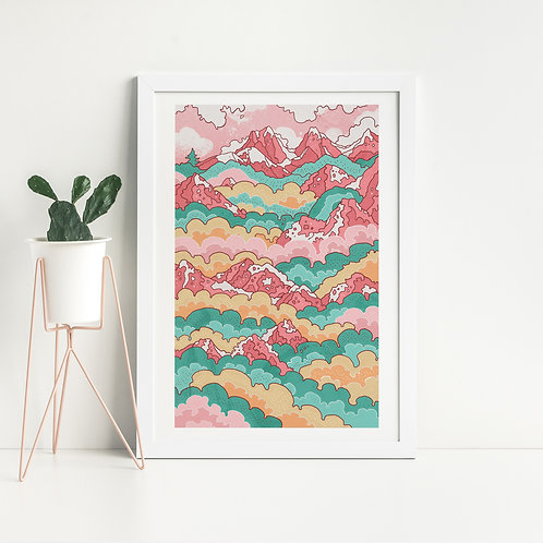 Raspberry Hills Art Print