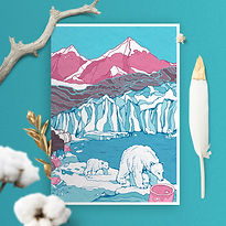 Polar Bears Greeting Card by Gosia Grodz