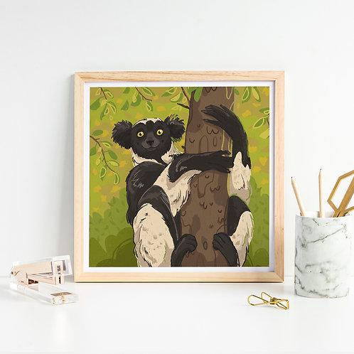 Indri Art Print