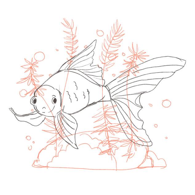 Rainbow Fish sketch