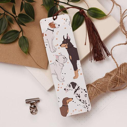 Dogs Aluminium Bookmark