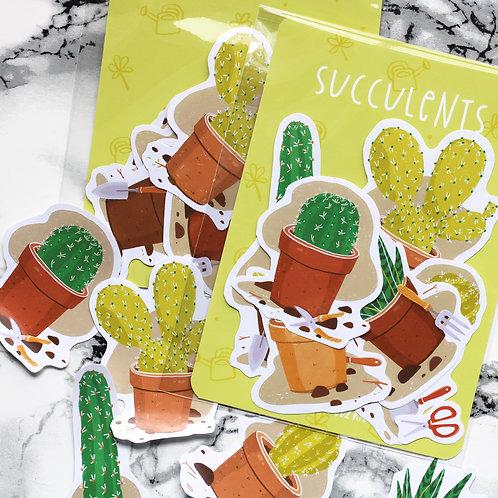 Succulents Sticker Pack