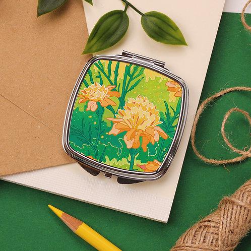 Yellow Flowers Pocket Mirror