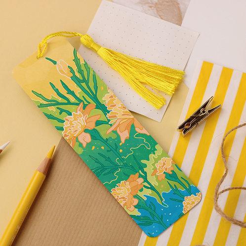 Yellow Flowers Aluminium Bookmark
