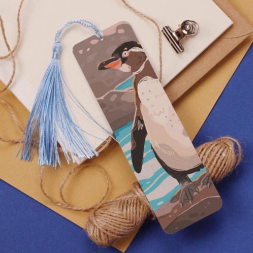Galapagos Penguin Aluminium Bookmark