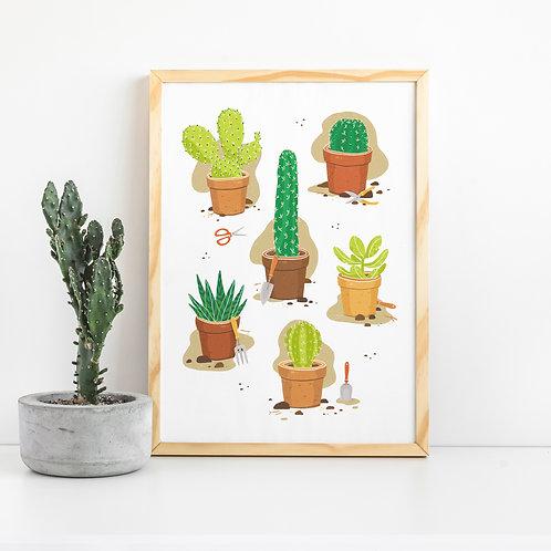 Cactuses Art Print