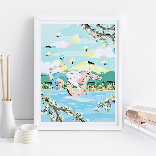 Fuji Dragon Art Print