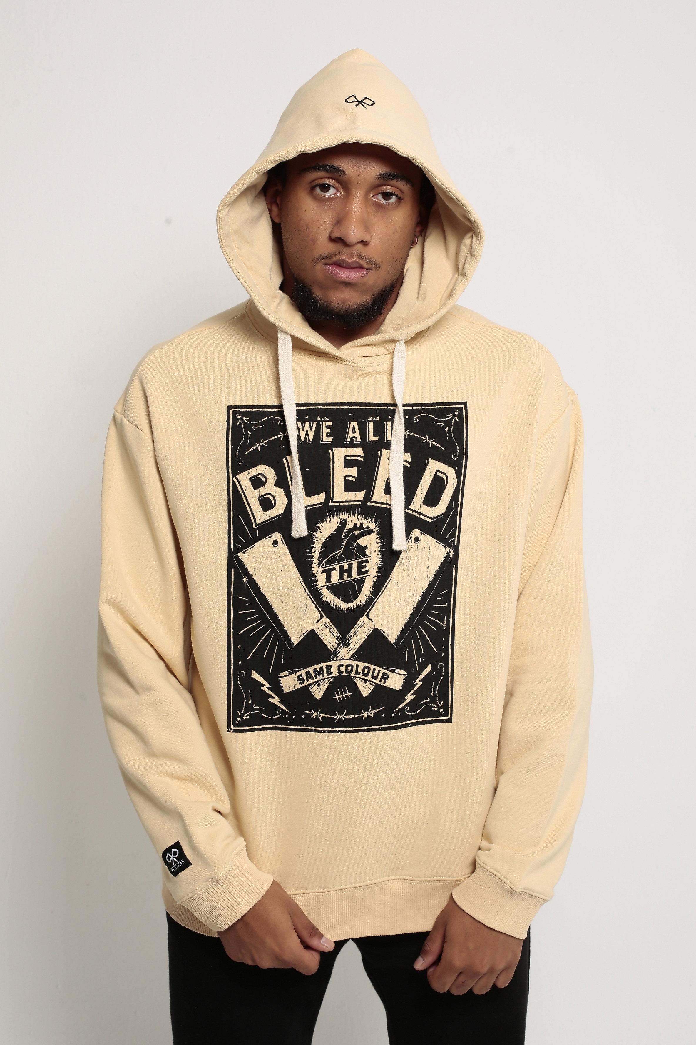 P O L Y P O P | Bleed - Beige Pullover Hoodie