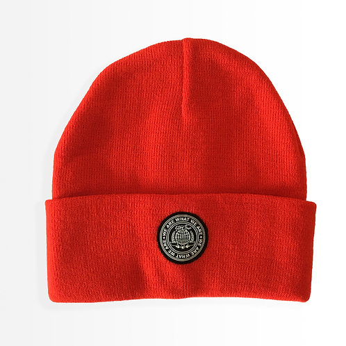 """Around the World"" Blood Orange Beanie"