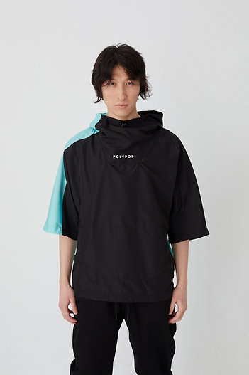3/4 Sleeve United Windbreaker Black-Mint