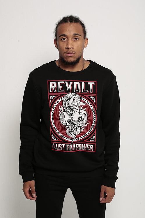 """""""Revolt"""" Relaxed Fit Crewneck Black"""