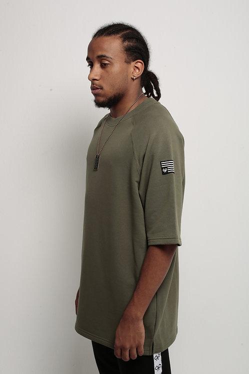 """Antiflag"" Oversized T-Shirt Army Green"