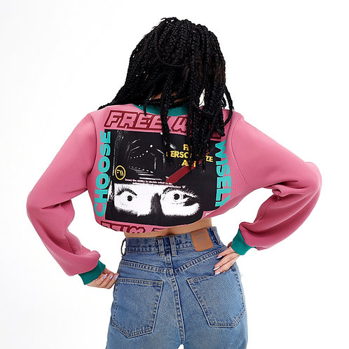 Free Will Cropped Sweatshirt Pink