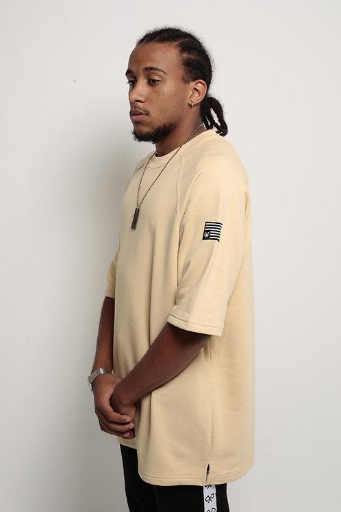 """""""Antiflag"""" Oversized T-Shirt Beige"""