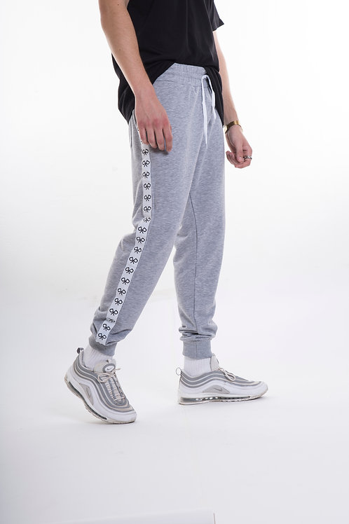 Logo Tape Men's Joggers Grey