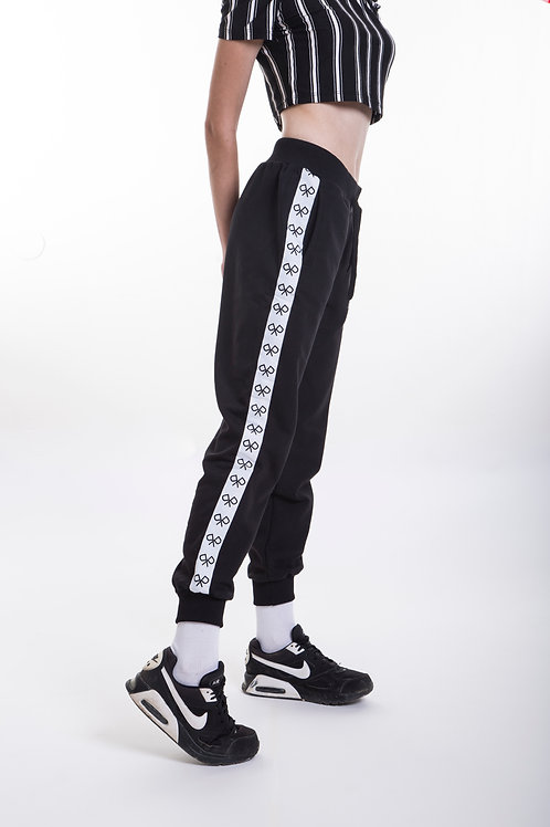 Logo Tape Women's Joggers Black