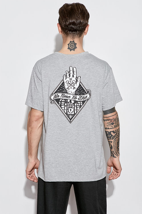 """""""No Time To Die"""" T-Shirt Grey"""