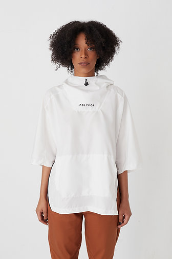 3/4 Sleeve Windbreaker White