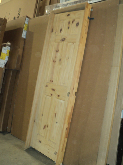 6 Panel Knotty Pine Interior Door