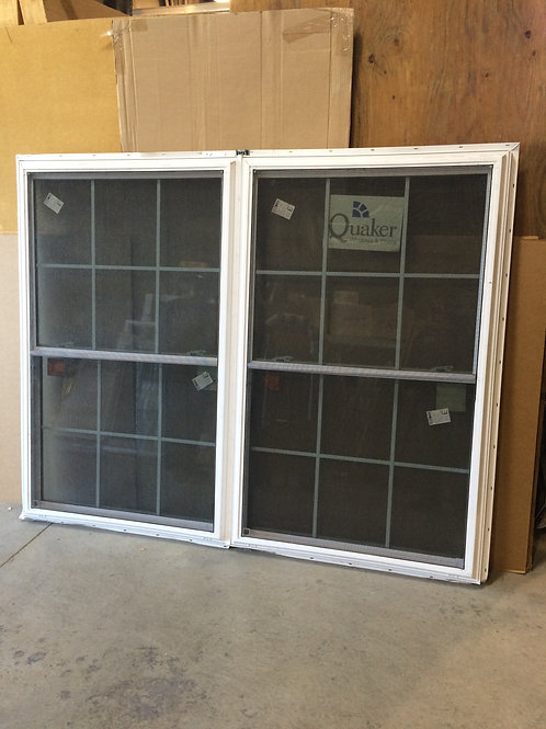 Quaker Alex Series Vinyl 2-Wide Double Hung