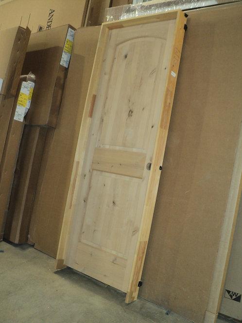 2468 LH - Knotty Alder 2-Panel Raised Arch Interior Door