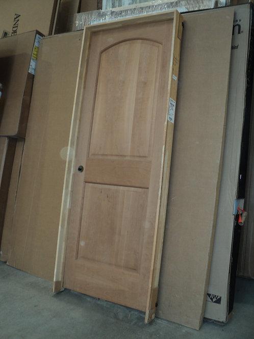 2668 RH - Cherry 2-Panel Raised Arch Interior Door