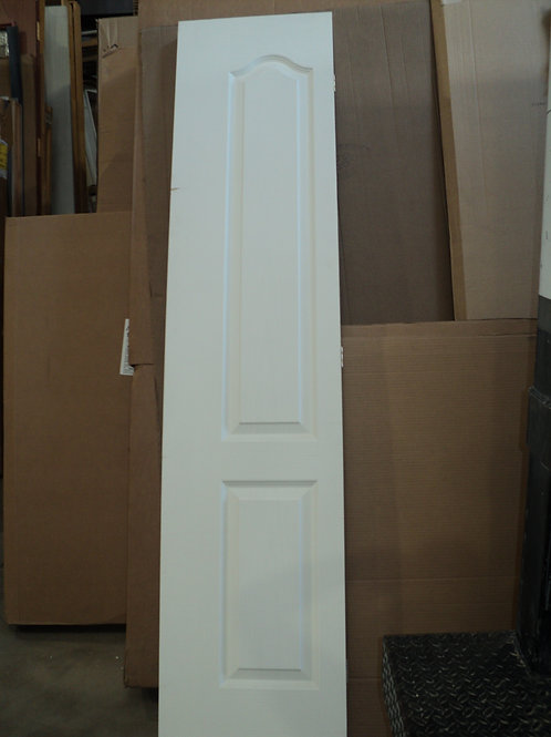 Primed Arch 2-Panel Textured Wood Grain