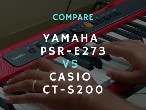 Compare: Yamaha PSR-E273 vs Casio CT-S200
